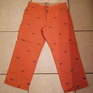 Izod khaki pants dog print